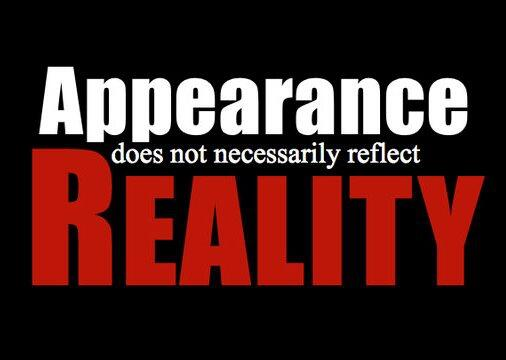 what is appearance and reality