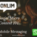 Social-Micro-Content-Onlim-Mobile-Messaging
