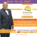 Thursday April 13 2017 A Daily Prayer with Bishop Crudup -Thursday Of Holy Week -