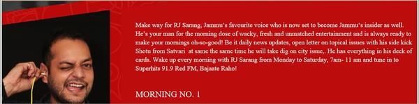 Morning Number one with RJ Sarang