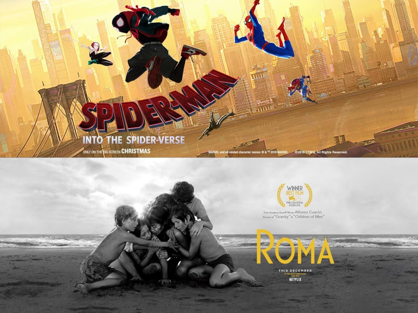 Audioboom / Out Now 347: Spider-Man: Into The Spider-Verse & Roma