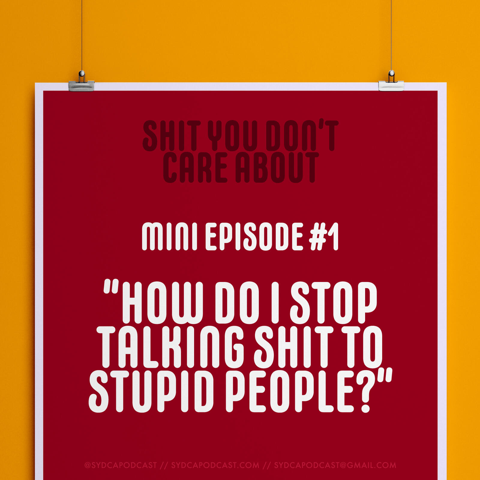 """Mini-Episode 1: """"How Do I Stop Talking Sh*t to Stupid People"""""""