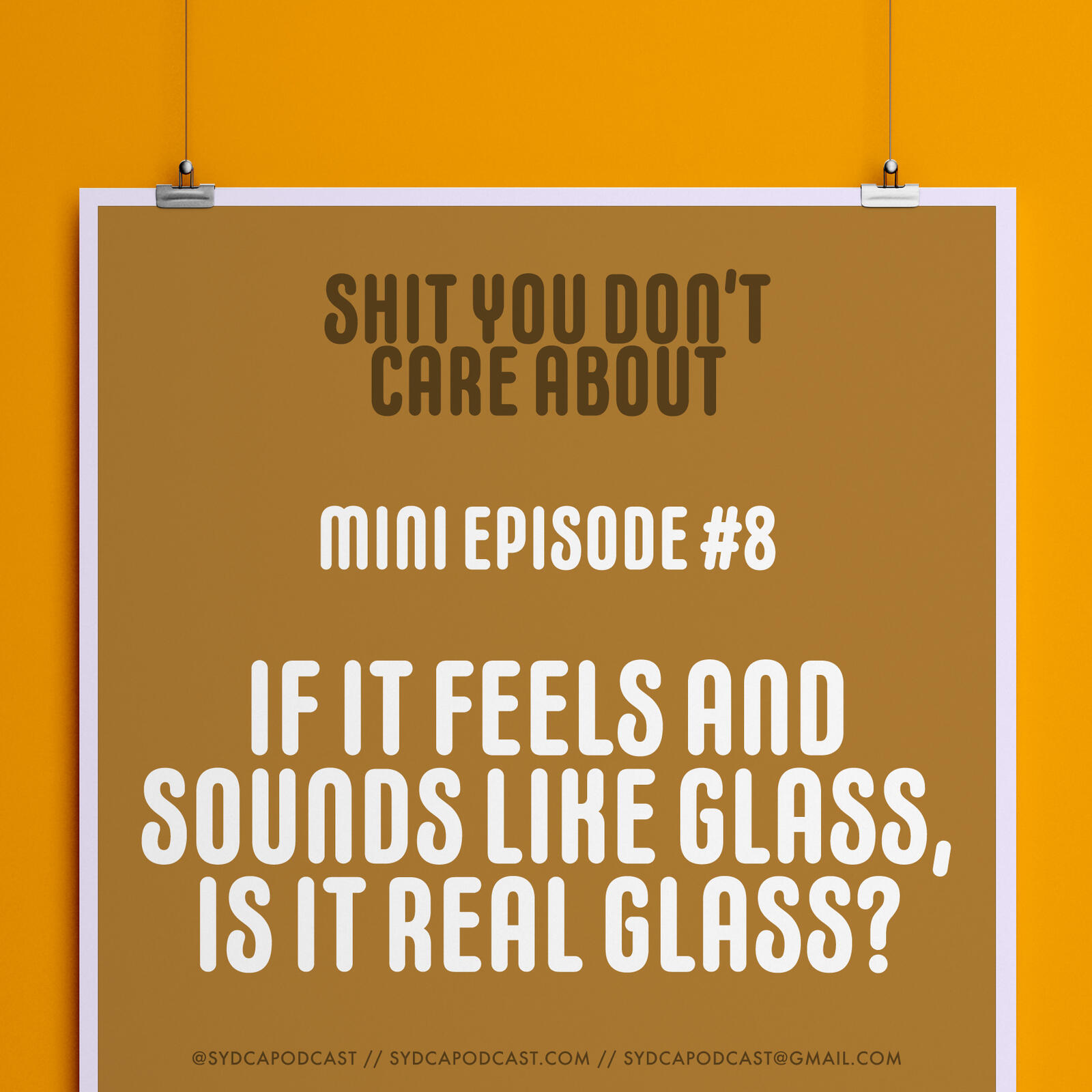 Mini-Episode #8: If It Feels and Sounds Like Glass, Is It Real Glass?