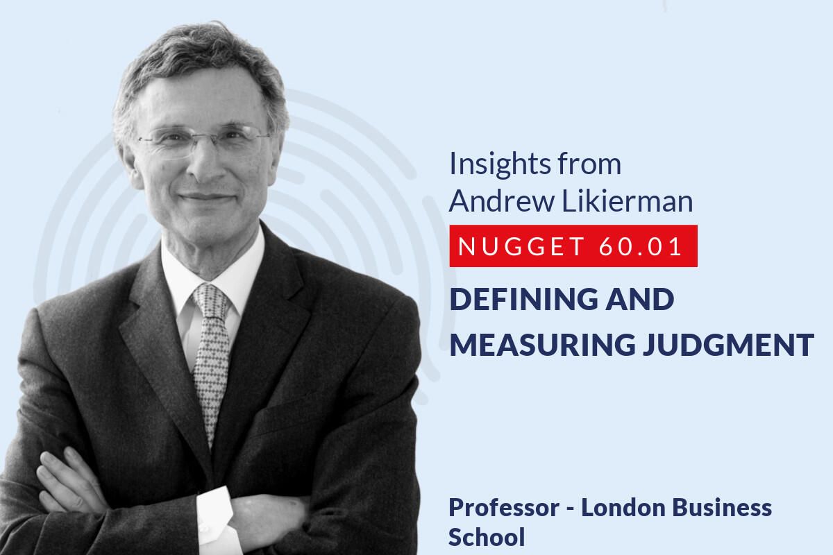632: 60.01 Andrew Likierman - Defining and measuring Judgment