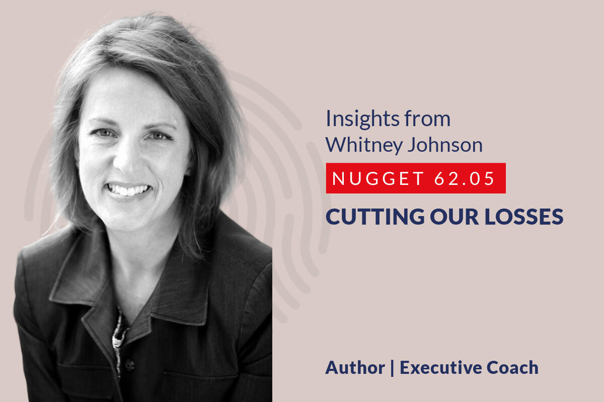 634: 62.05 Whitney Johnson – Cutting our losses