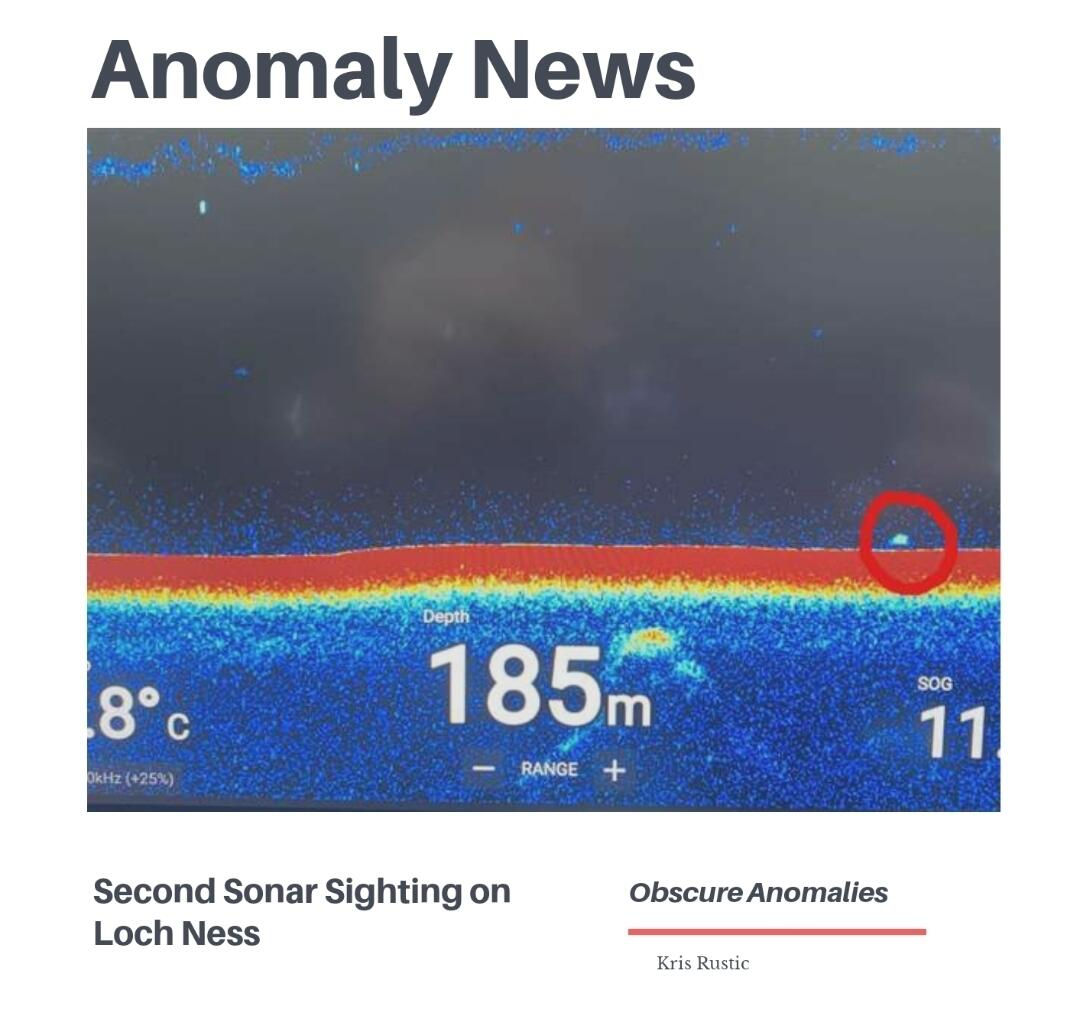 Anomaly News: Second Loch Ness Sonar Hit