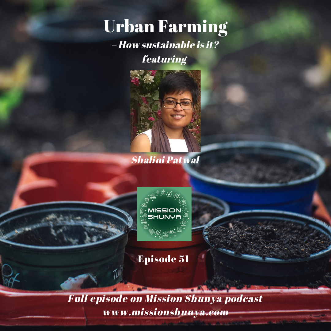 51: How sustainable is urban farming? ft. Shalini Patwal