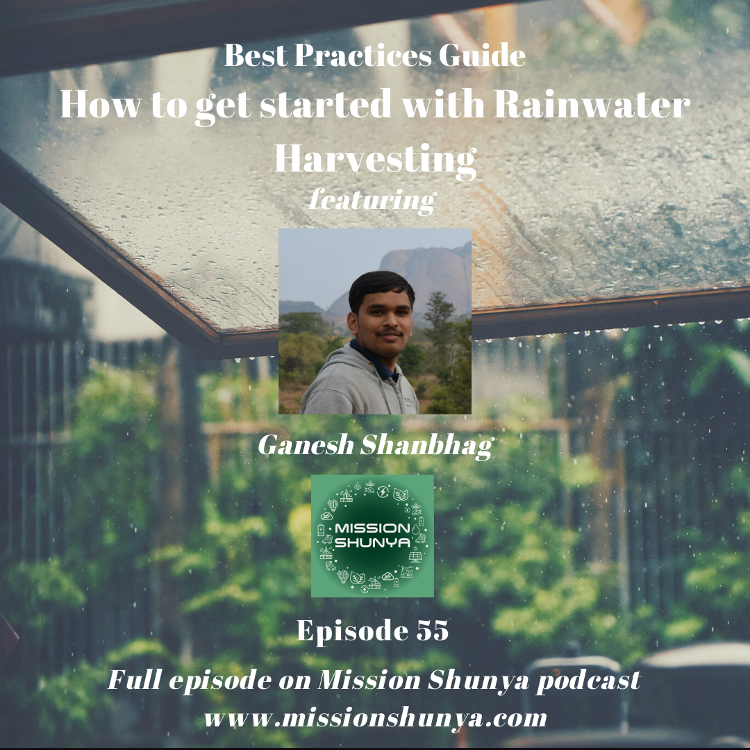55: Best Practices Guide: How to get started with Rainwater Harvesting