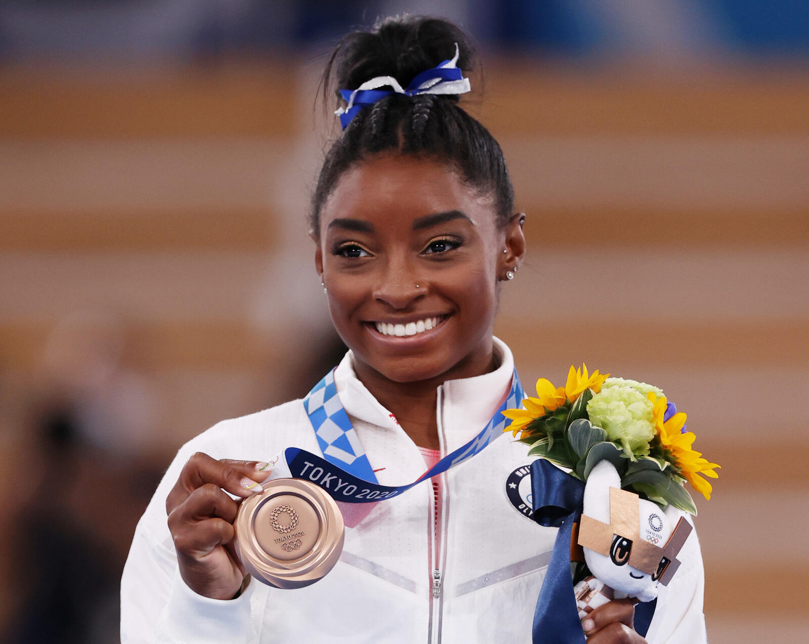 242: 08/03/21 - Simone Biles Wins The Bronze Medal In The Women's Balance Beam Final Following Her Exit From The Team Final