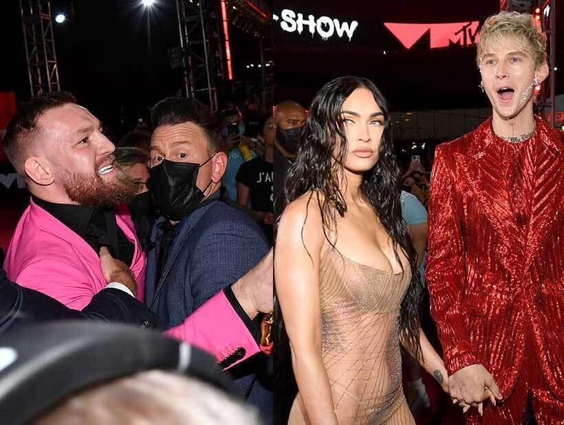 """6: 09/13/21 - Conor Mcgregor Denies His VMAs Scuffle with Machine Gun Kelly Started Over A Selfie Request: I Don't """"Fight Little Vanilla Boy Rappers"""""""